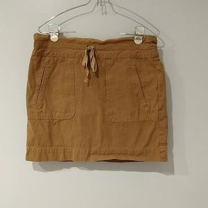 J. Crew size 0 khaki skirt with drawstring